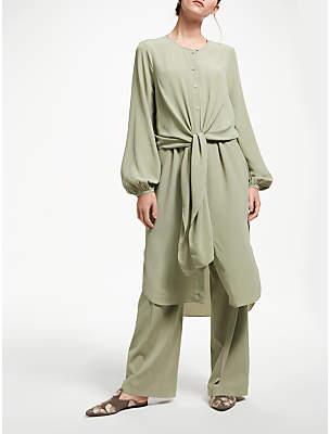 Modern Rarity Silk Double Layer Dress, Misty Sage