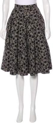 Co Jacquard Knee-Length Skirt