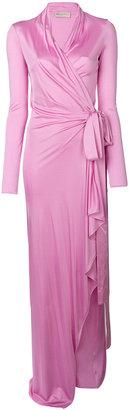 tie waist gown