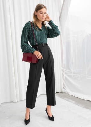 And other stories High Waisted Wool Blend Pants