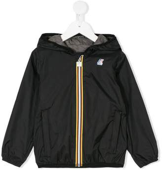 K Way Kids zip hooded jacket