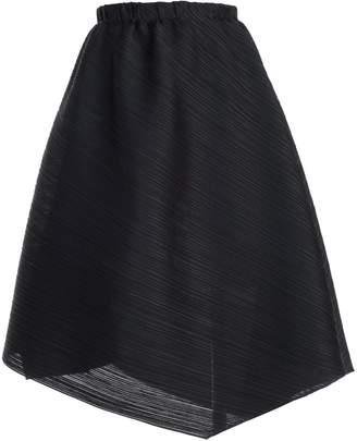 Pleats Please Issey Miyake Asymmetric Pleated Skirt