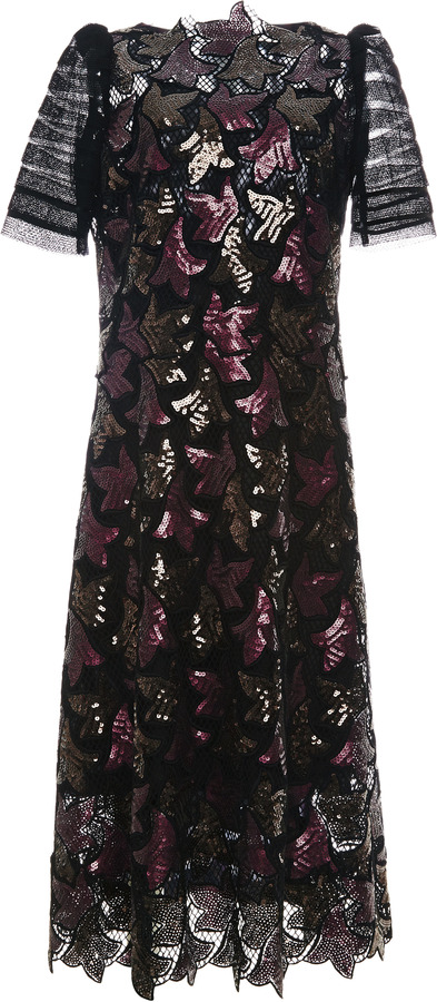 Marc Jacobs Sequined Guipure Lace Dress