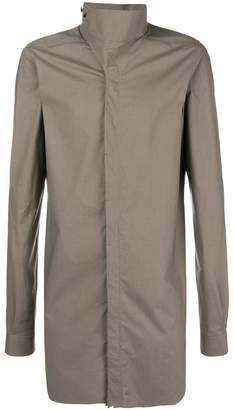 Rick Owens long Korean collar shirt