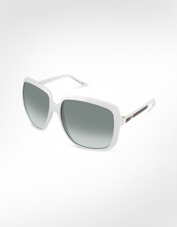 Gucci Web Temple Square Sunglasses