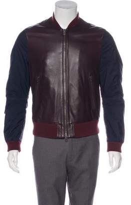 Burberry Leather Bomber Jacket