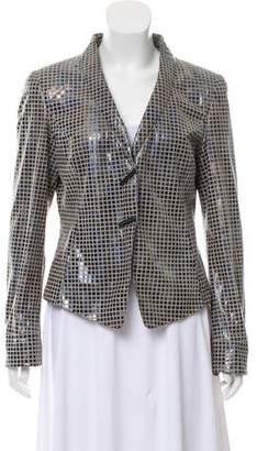 Giorgio Armani Structured Leather Jacket