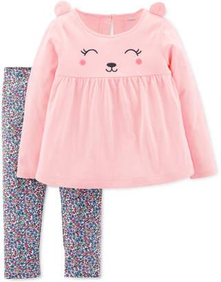 Carter's Toddler Girls 2-Pc. Bear Top & Floral Legging Set