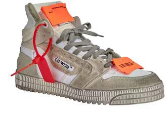b15f8855c5d006 Off-White Off White Leather Off-Court 3.0 High-Top Sneakers