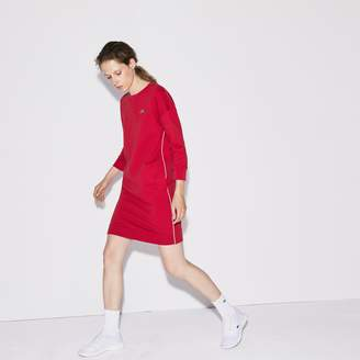Lacoste Women's SPORT Piped Fleece Tennis Sweatshirt Dress