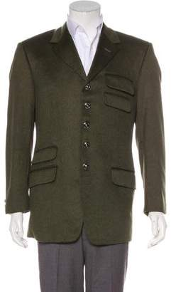 Gianni Versace Cashmere Military Blazer