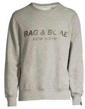 Rag & Bone Rag& Bone Rag& Bone Men's Upside Down Logo Sweatshirt - Black - Size XL