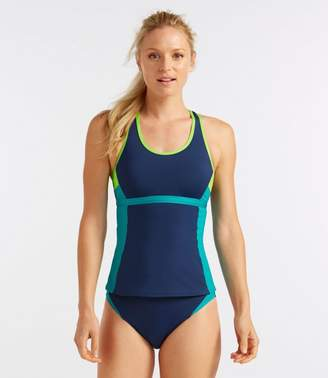 L.L. Bean L.L.Bean Active Swim Collection, Racerback Tankini Top, Colorblock