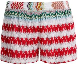 Missoni MARE High-waist knit shorts