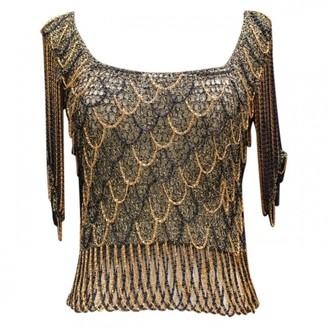 Azzaro Loris Black Cotton Top for Women Vintage