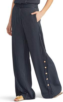 Rachel Roy Collection Pinstripe Side Button Trousers