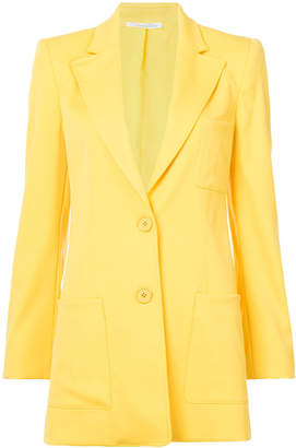 Oscar de la Renta elongated peak lapel blazer