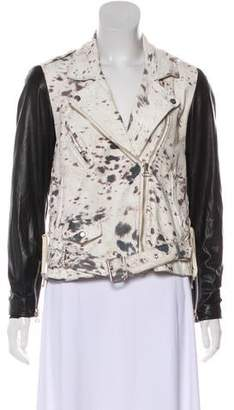 3.1 Phillip Lim Contrast Leather Moto Jacket