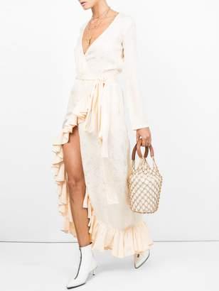 ATTICO Satin jaquard dress