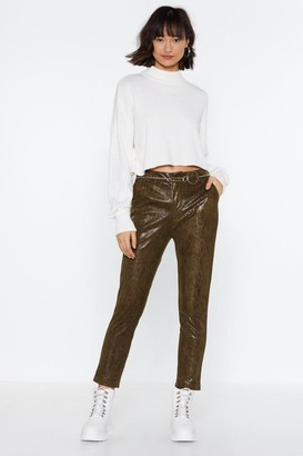 Nasty Gal Snake What's Yours Patent Pants