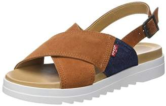 Levi's Women's Persia Flip Flops, (Light Brown 26)