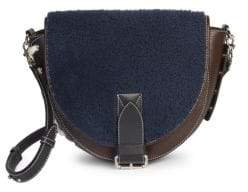 J.W.Anderson Shearling & Suede Saddle Bag