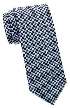 Salvatore Ferragamo Men's Pig Pattern Silk Tie