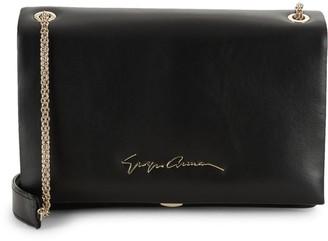 Giorgio Armani Foldover Leather Shoulder Bag