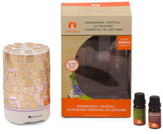Crystal Ultrasonic Diffuser With Essential Oils
