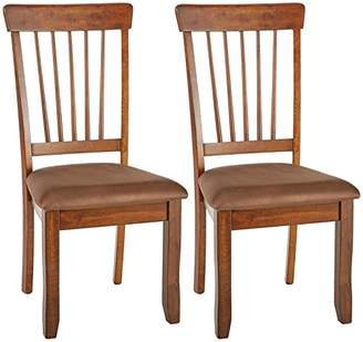 Signature Design by Ashley Ashley Furniture Signature Design - Berringer Dining Side Chair - Spindle Back - Set of 2 - Hickory Stain Finish