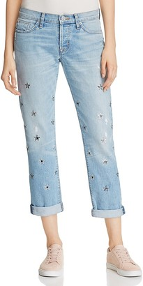 Hudson Riley Star Grommet Relaxed Jeans $285 thestylecure.com