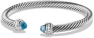 David Yurman Cable Classics Bracelet with Blue Topaz and Diamonds