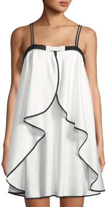 Kate Spade Mrs. Ruffled Satin Bridal Chemise