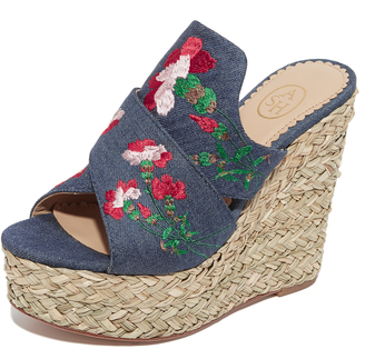 Ash Bahia Wedge Slide Sandals $225 thestylecure.com