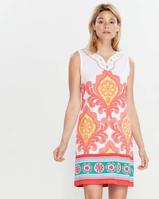 Rafaella Sleeveless Printed Shift Dress