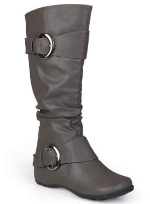 Brinley Co. Women's Buckle Knee-High Slouch Boot