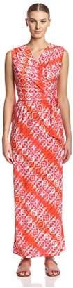 James & Erin Women's Surplice Maxi Dress