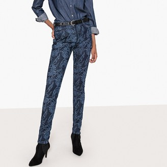 "La Redoute COLLECTIONS Slim Fit Floral Print Jeans, Length 30.5"""
