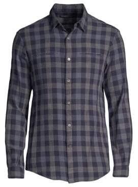 John Varvatos Slim-Fit Button Up Check Shirt