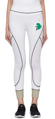 Fendi Sport Karlito golf print mesh panel leggings