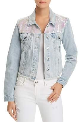 Sunset & Spring Sunset + Spring Sequined Denim Jacket - 100% Exclusive