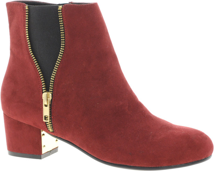 River Island Zip Side Ankle Boots