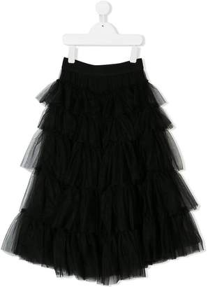 MonnaLisa tiered tulle skirt