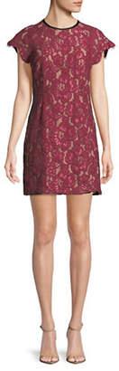 WAYF Tabbie Raglan Lace Sheath Dress