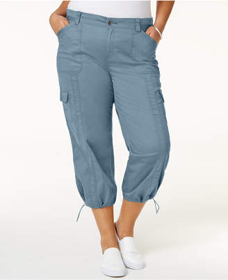 Style&Co. Style & Co Plus Size Capri Cargo Pants, Created for Macy's