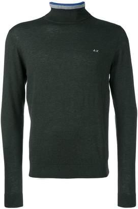 Sun 68 striped turtleneck sweater