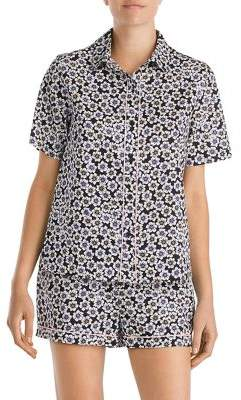 Kate Spade Two-Piece Piped Floral Pajama Set