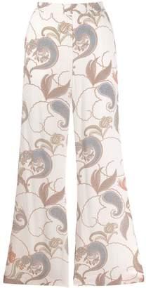 See by Chloe printed wide leg trousers