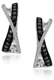 LeVian Exotics 14K Vanilla Gold Crossover Earrings