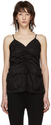 Marques Almeida Black Ruched Tank Top